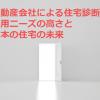 不動産会社による住宅診断の利用ニーズの高さと日本の住宅の未来